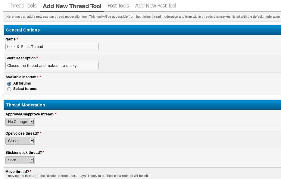 Moderator Tools