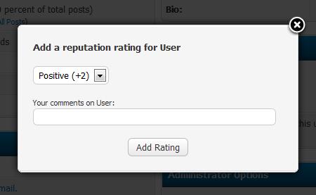 Give reputation rating